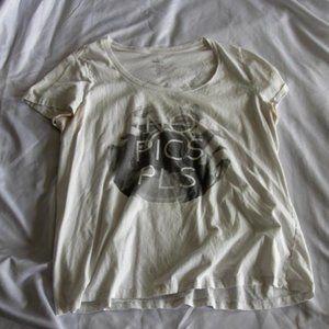 """Torrid White """"No Pics Please"""" T-Shirt"""